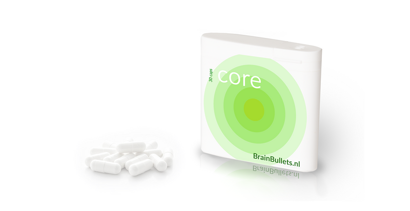 Core capsules to improve mental performances and study