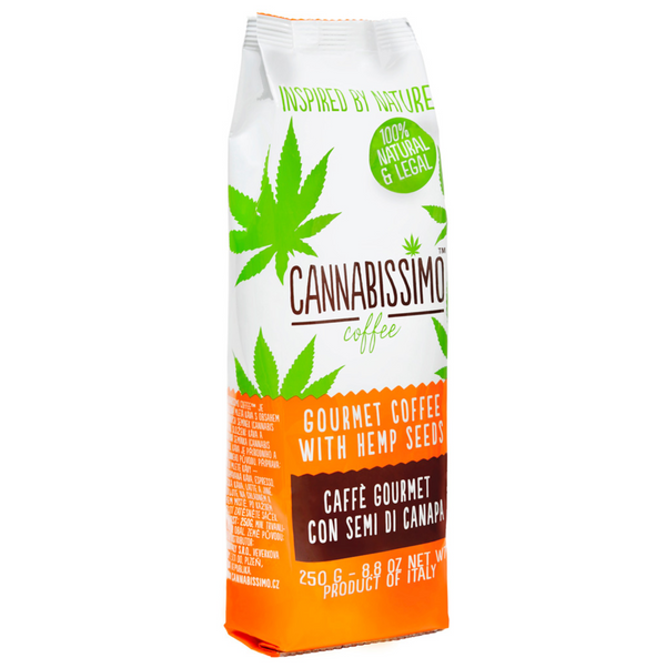cannabissimo coffee with CBD when nature calls