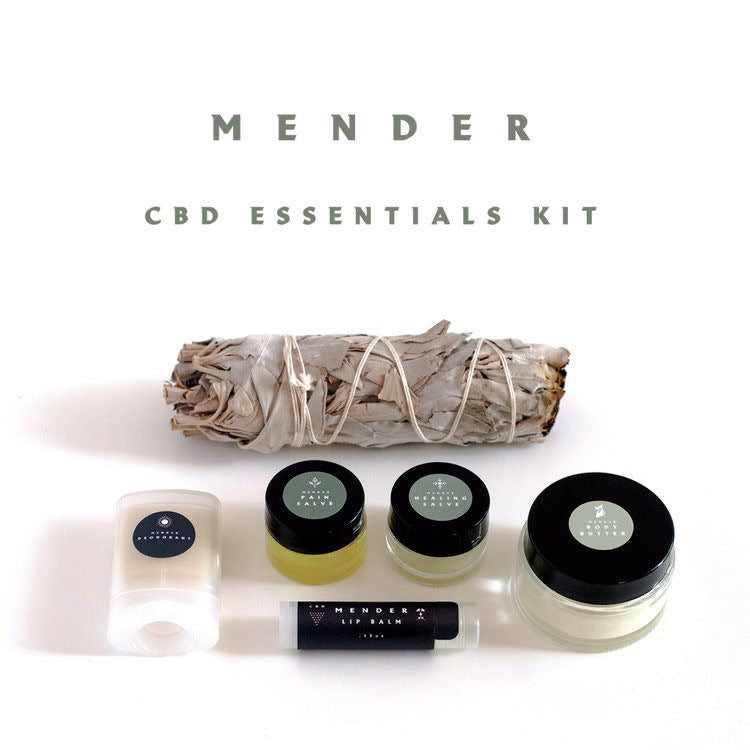 Mender cbd cosmetics complete essential kit