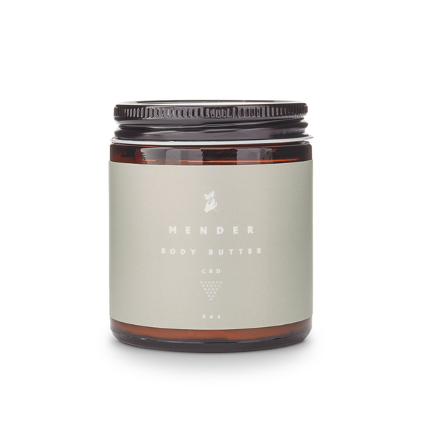 mender body butter with cbd and essentials frontside