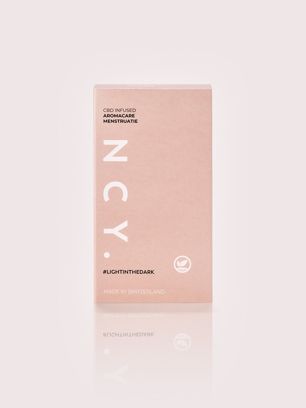 NCY CBD menstruation ampoule box