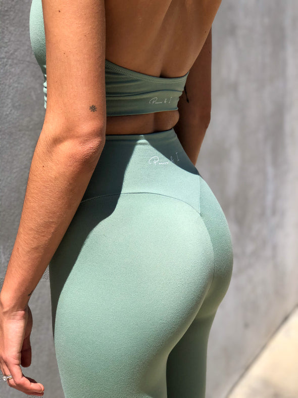 SAGE HIGH WAIST CLASSIC LEGGINGS