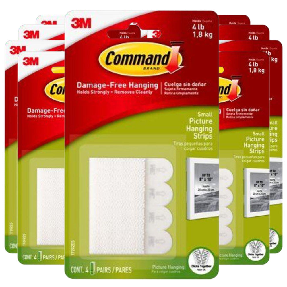 3M Command Small Picture Hanging Strips  - (Pack of 9)