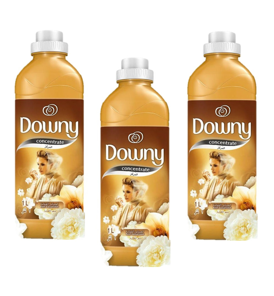 Downy Concentrate Fabric Softener Feel Luxurious (Gold) 1L (Pack Of 3)