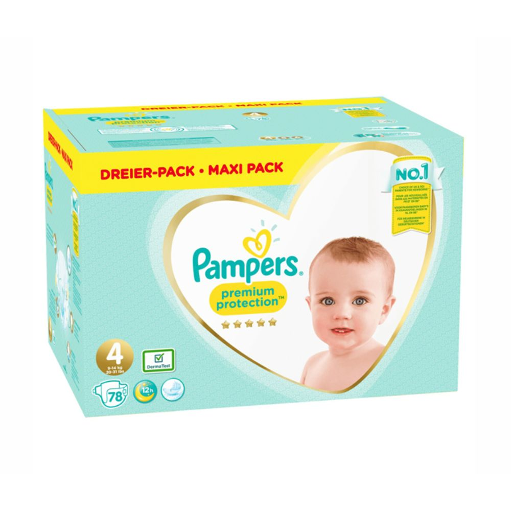 Pampers Premium Protection Diapers Size4 (9-14 kg) - 78 Pieces - Billjumla.com