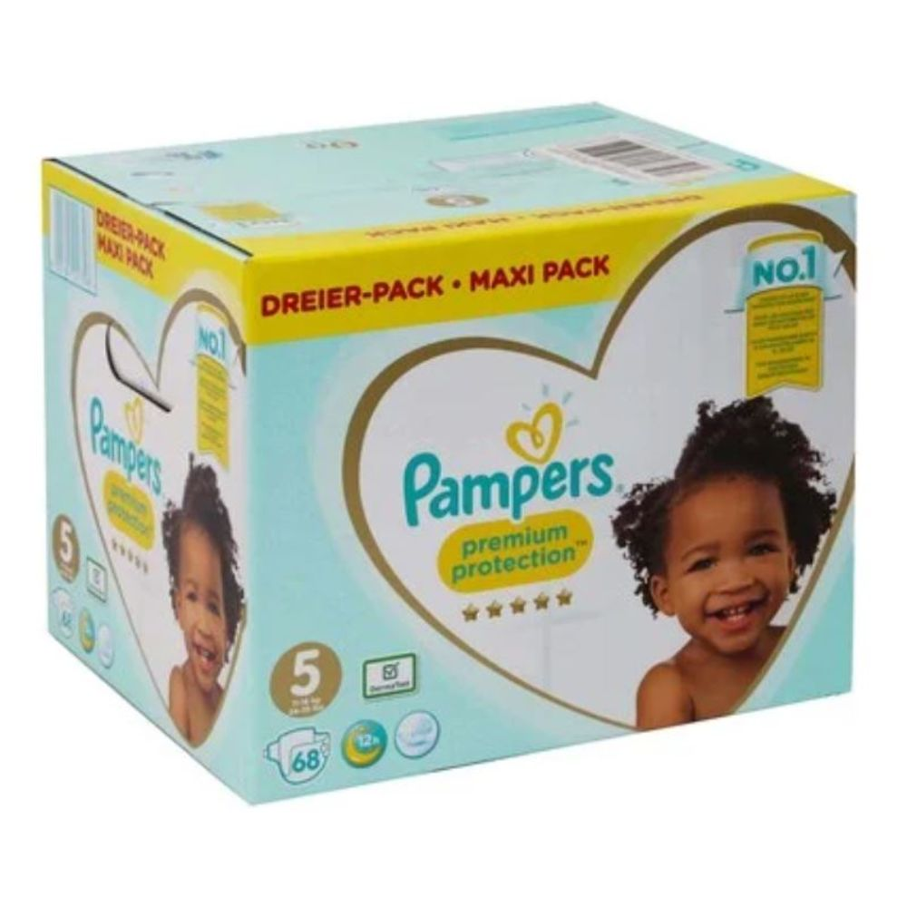 Pampers Premium Protection Diapers Size5 (11-16 kg) - 68 Pieces - Billjumla.com