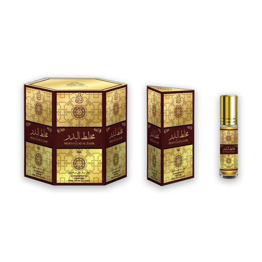 Adyan Roll On Mukhalatal Badr 6ml - (3 Packs - Total 18 Pieces)