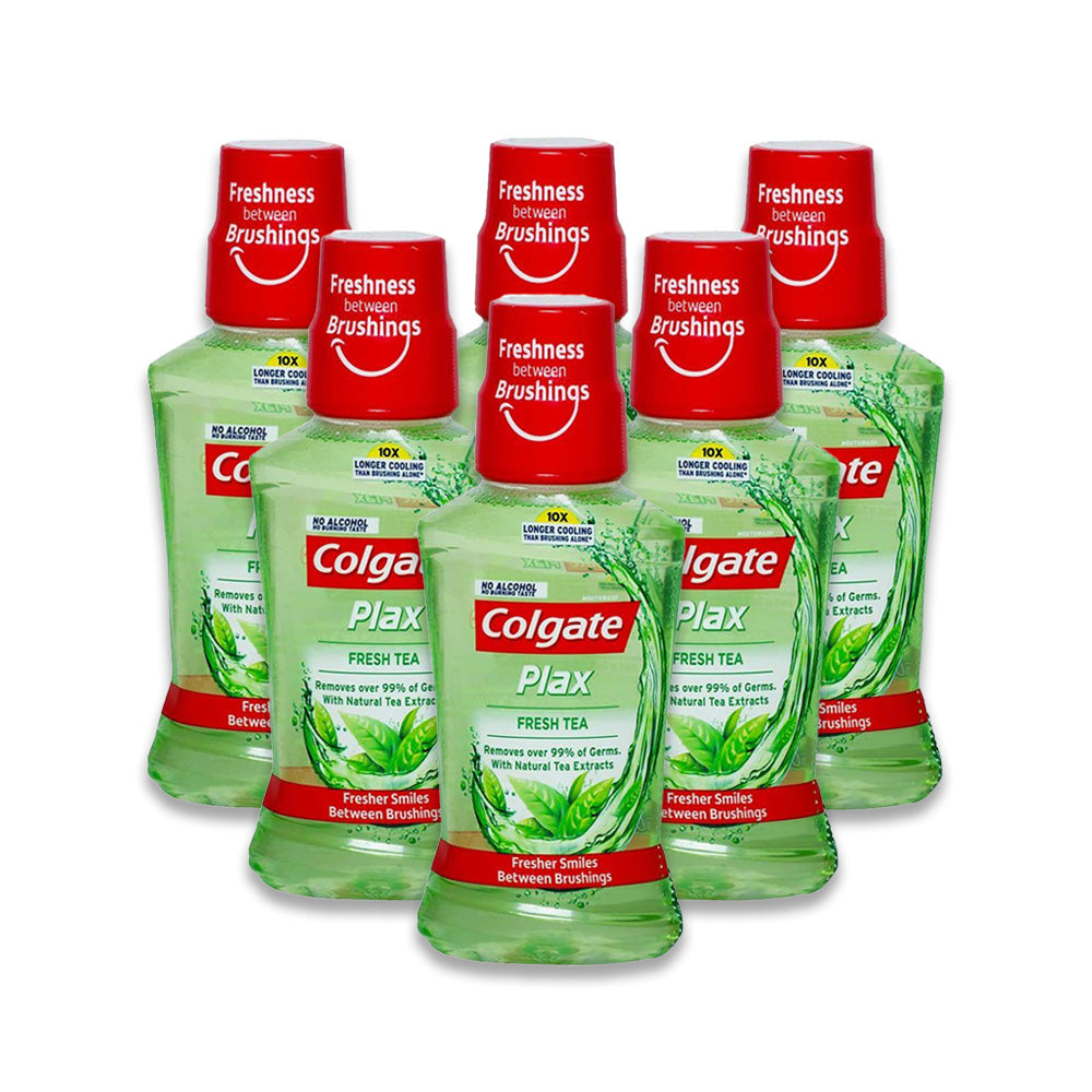 Colgate Mouthwash Plax Fresh Tea 250ml - Pack of 6