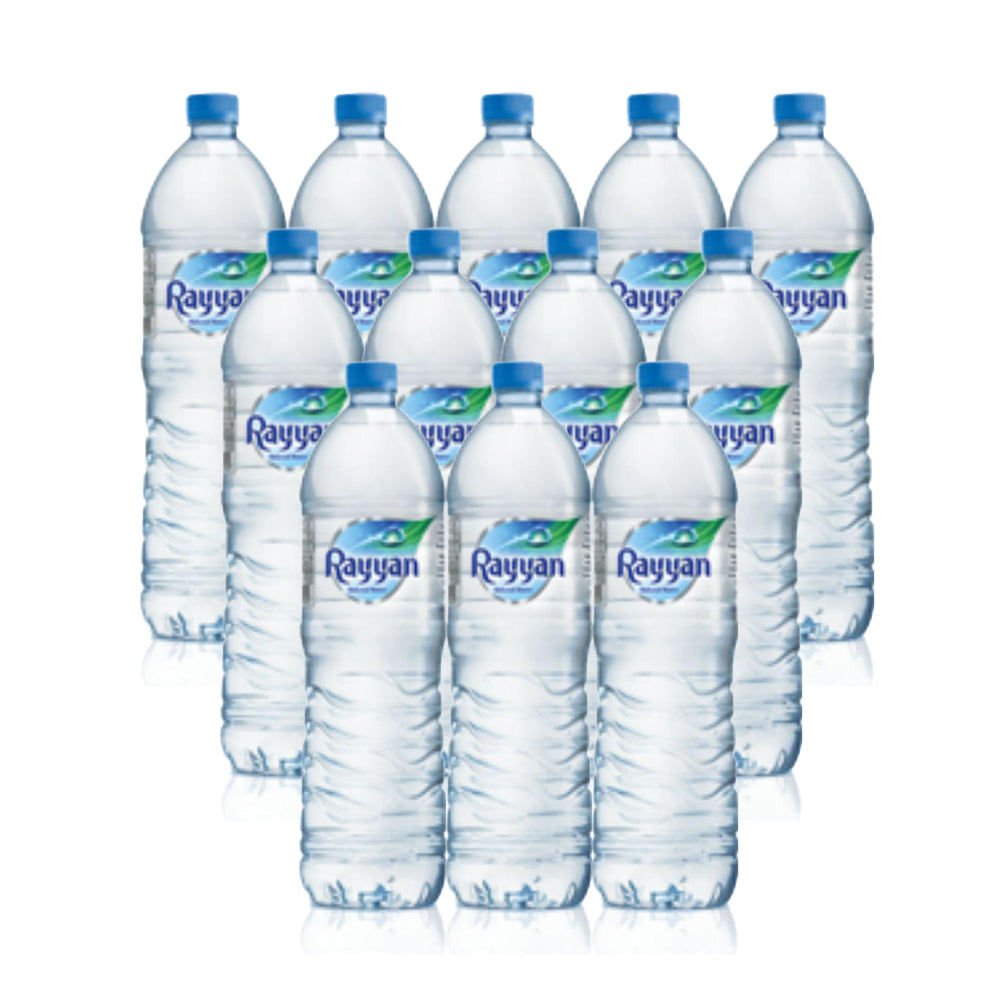 Rayyan Plastic Bottled Water 1.5 Litre - (5 Packs Of Total 30)