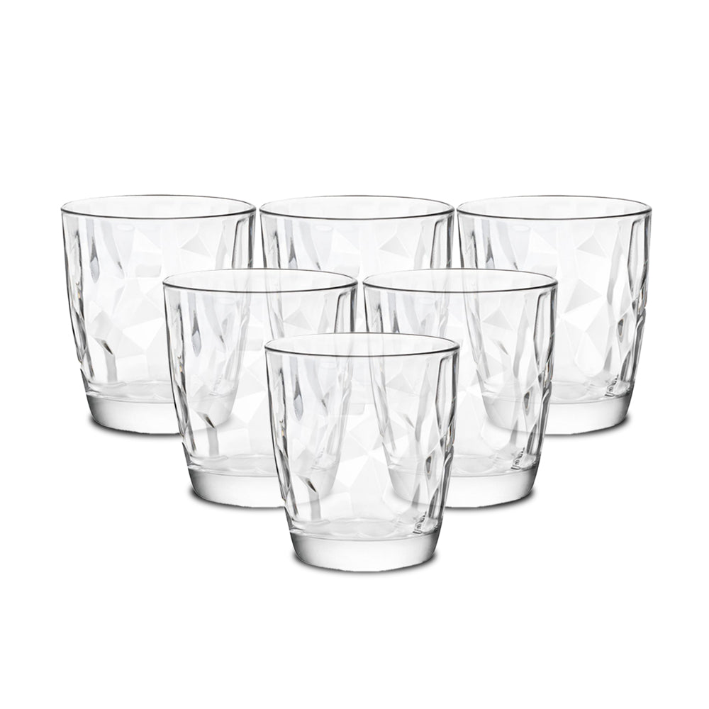 Bormioli Rocco Diamond Double Old Fashioned Glass 390ml - 6 Pieces
