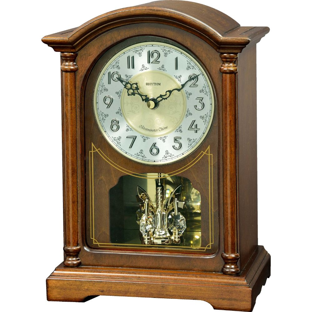 Rhythm SIP Melody Wooden Table Clock - Billjumla.com