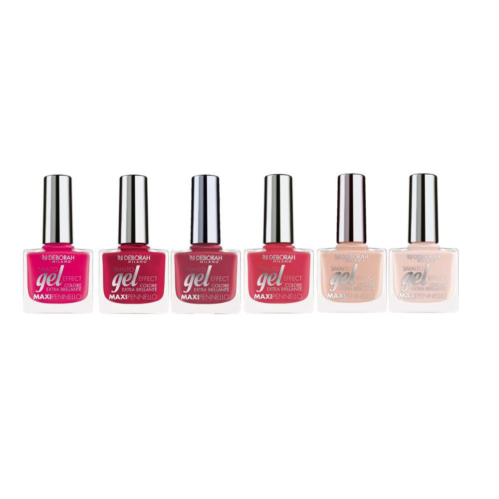 Deborah Gel Effect Nail Polish Set - Mixed Berries (Pack of 6 Pieces)