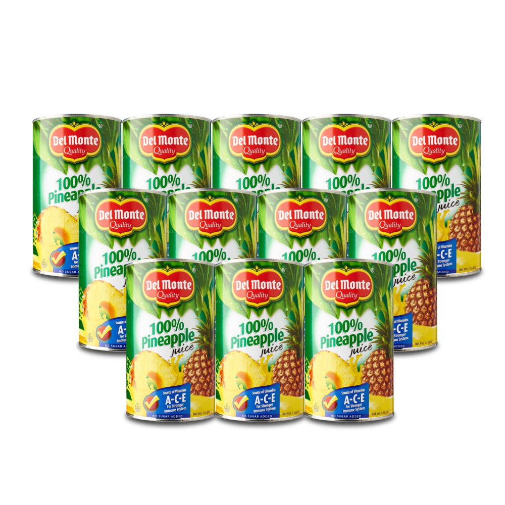 Del Monte Pineapple Juice Unsweetened 1.36 Liter (Pack of 12 Pieces)