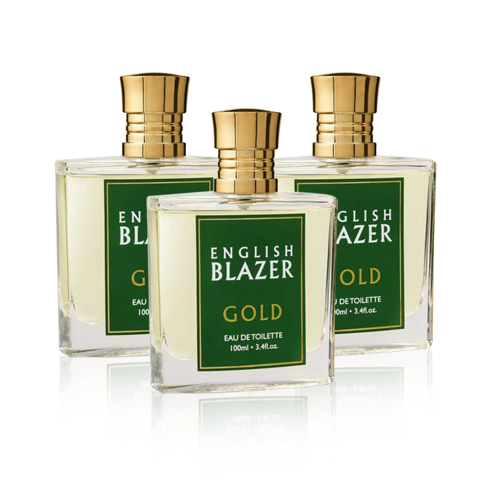 English Blazer Gold EDT - (Pack of 3)