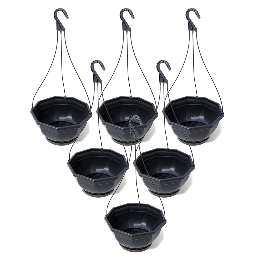 EDA Hanging Bowl 27 cm-Grey Pack Of 6