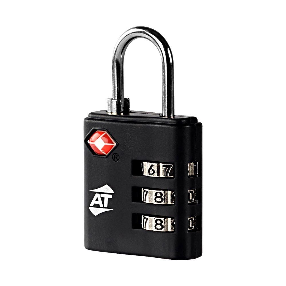 American Tourister  TSA 3-DIAL Combination Lock-Black - Billjumla.com