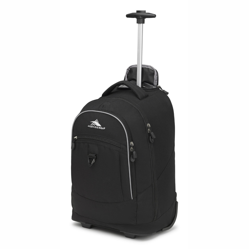 High Sierra Chaser Wheeled Backpack Black - Billjumla.com