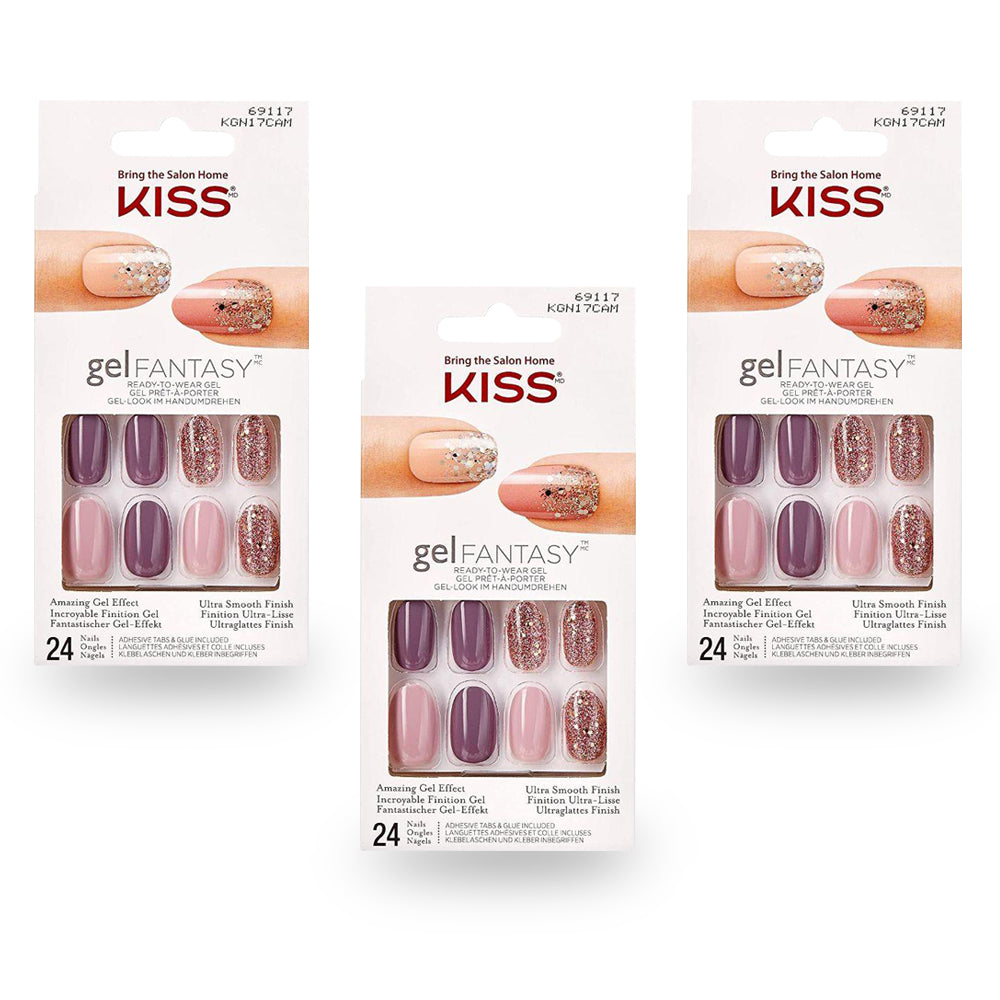 Kiss Gel Fantasy Nails - Medium KGN17 - (Pack of 3)