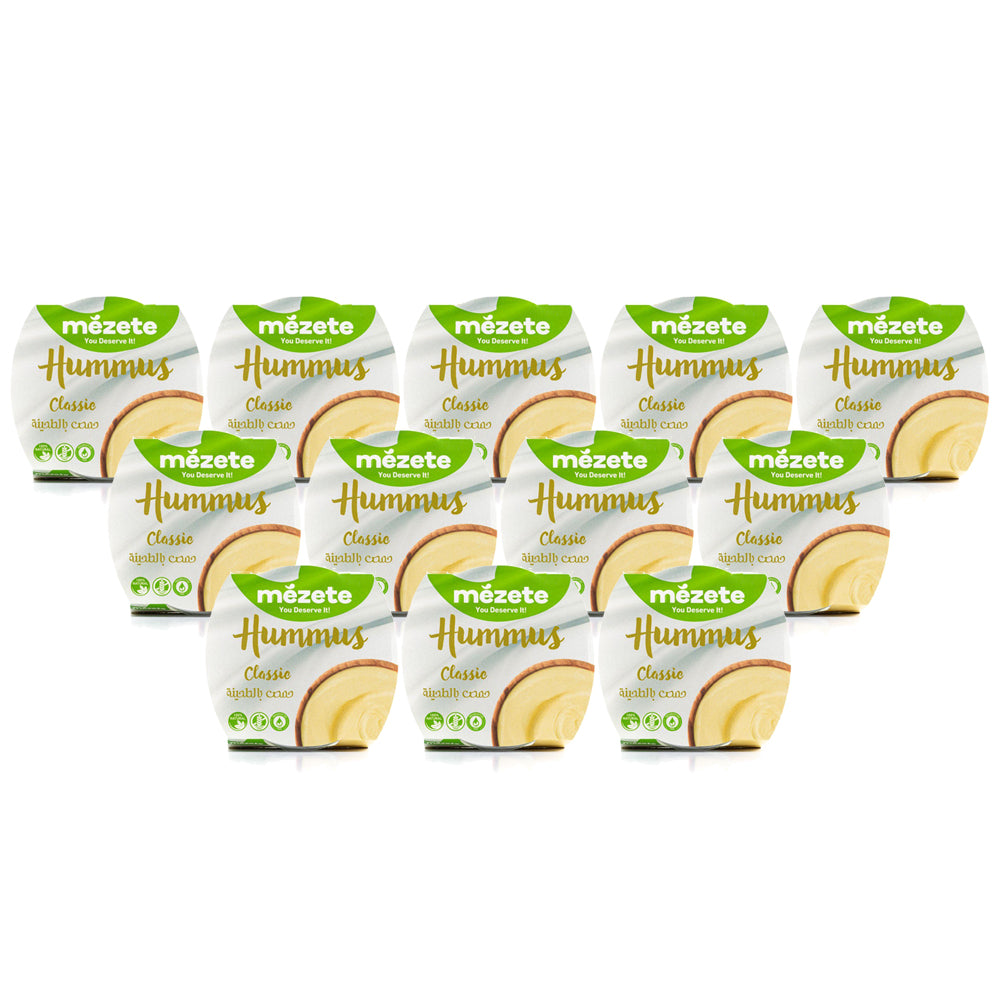 Mezete Hummus Classic 215g Regular - (Pack Of 12)