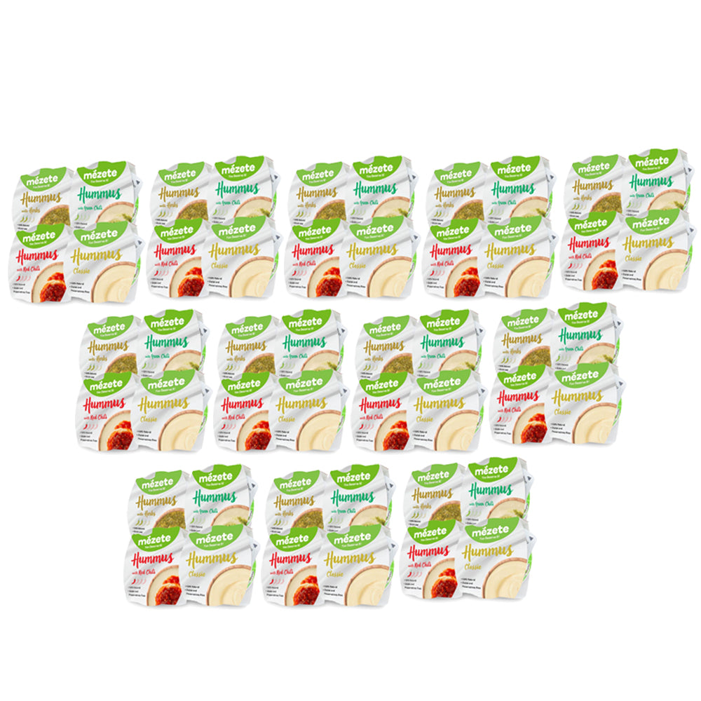 Mezete Hummus Assorted 215gm - (Pack of 12 pieces)