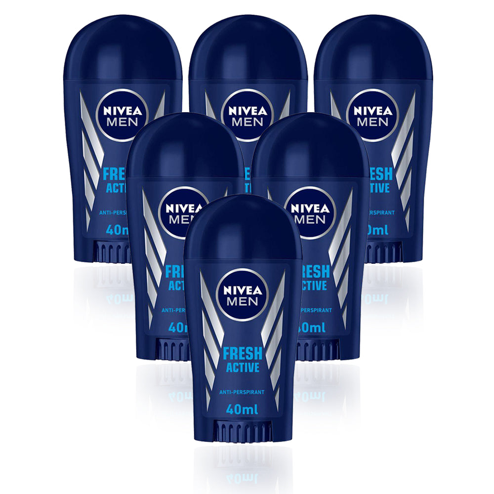Nivea Fresh Active Stick Mens 40ml - (Pack Of 6) - Billjumla.com