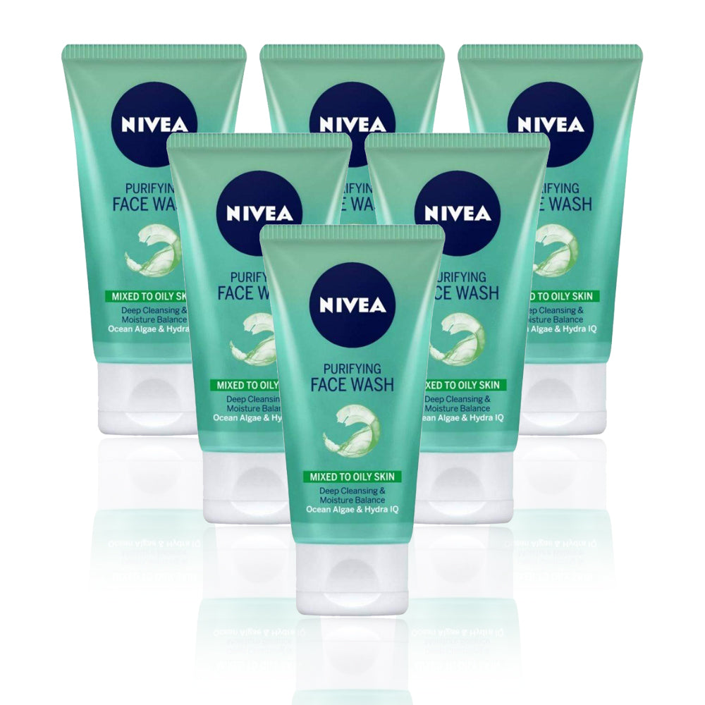 Nivea Purifying Face Wash Gel 150ml - (Pack Of 6)