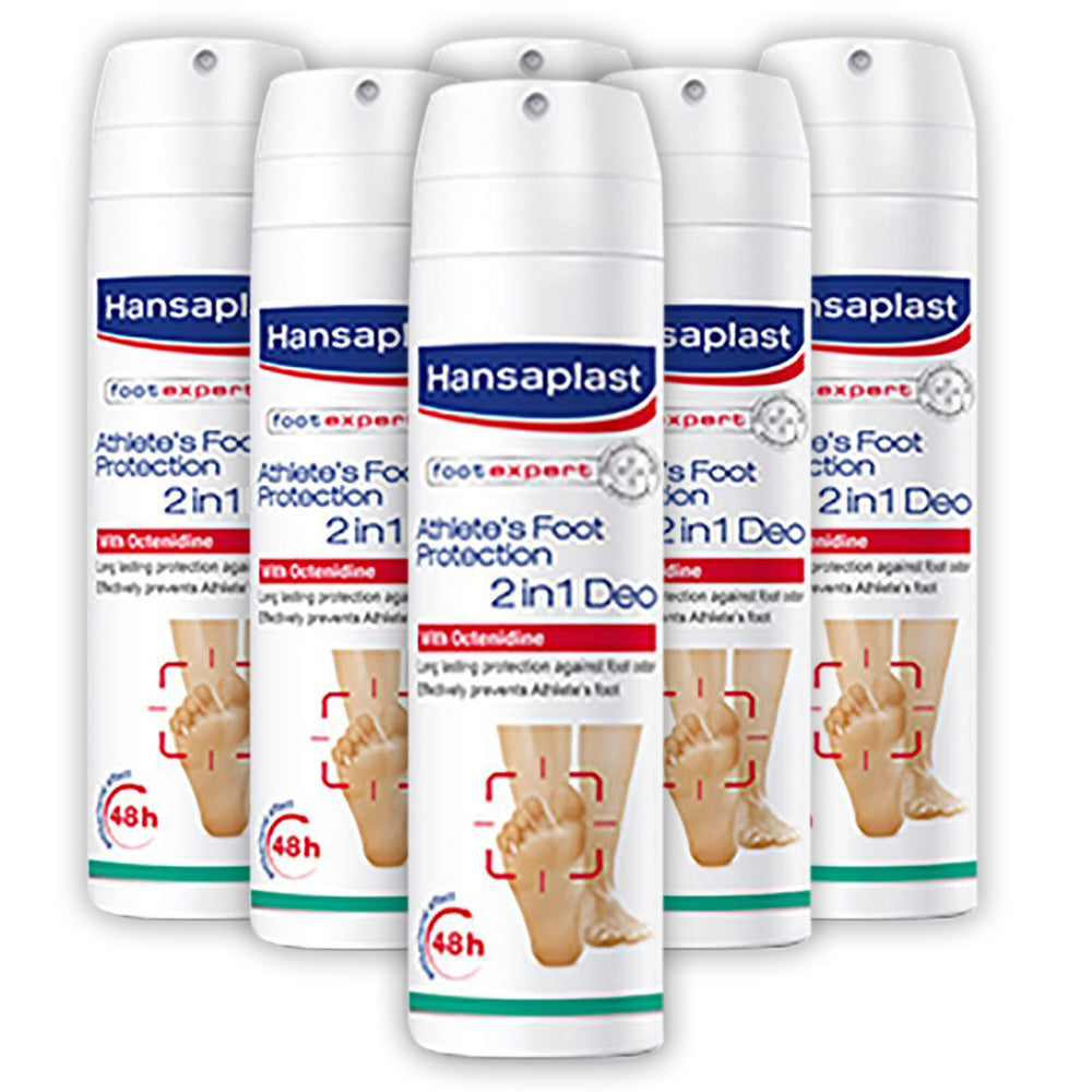 Hansaplast Foot Protection 2 In 1 Spary 150ml - (Pack Of 6)