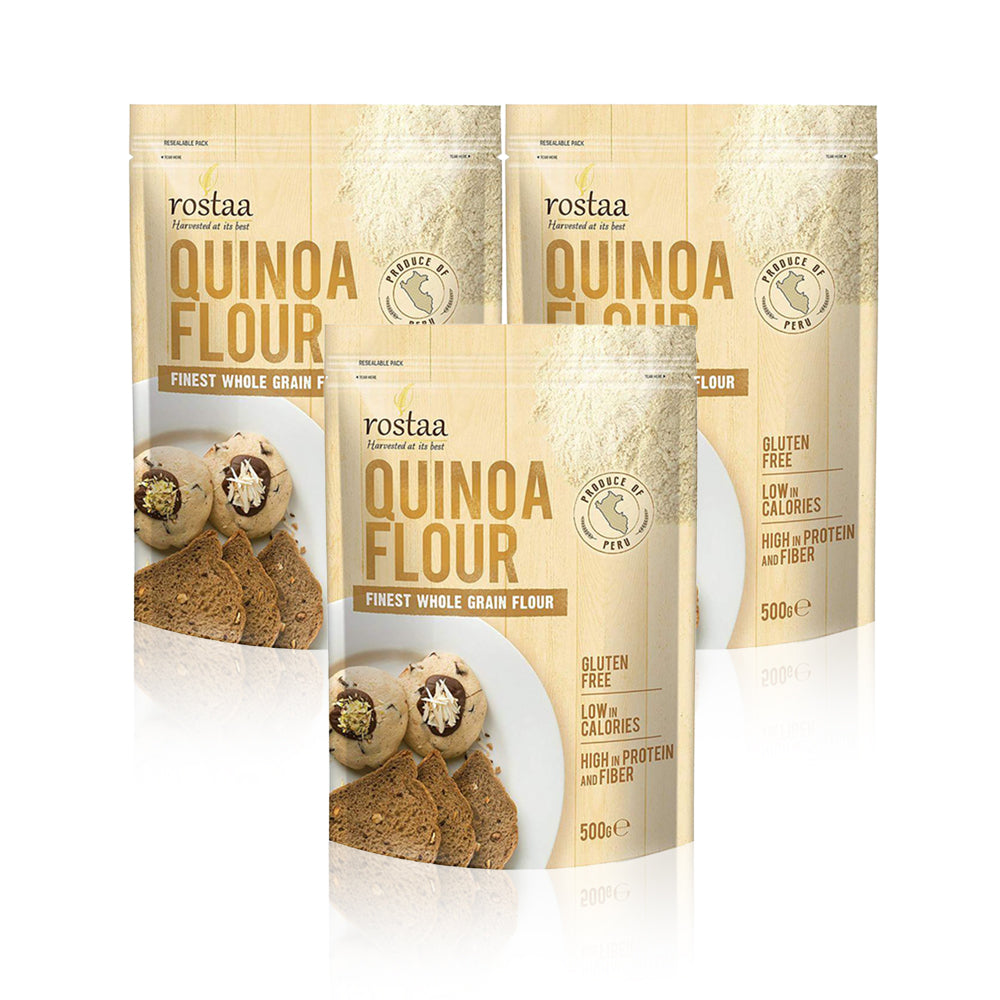 Rostaa Quinoa Flour 500g - (Pack Of 3 Pieces)
