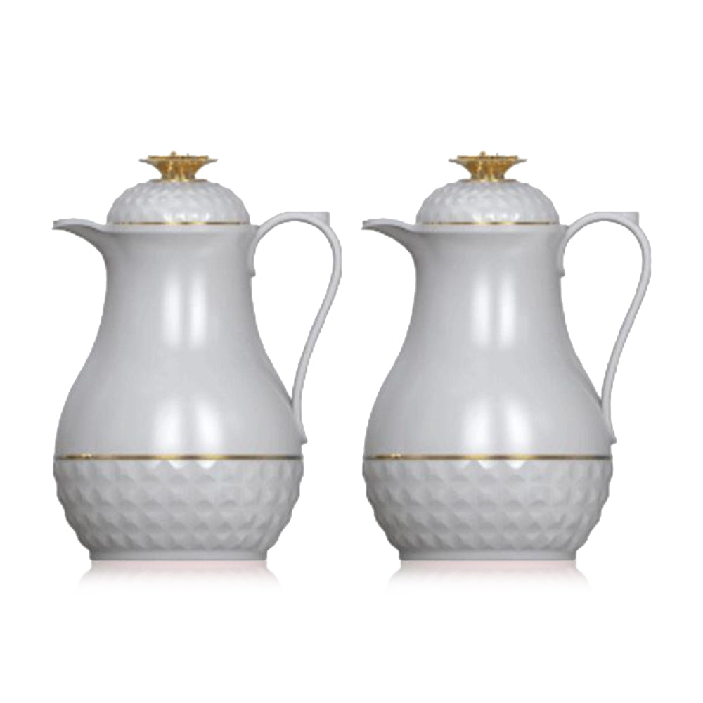 Royalblue Cute Tea Flask Jug With Glass Liner Grey - (Pack of 2)