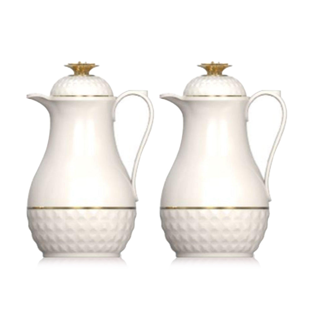 Royalblue Cute Tea Flask Jug With Glass Liner Beige - (Pack of 2)