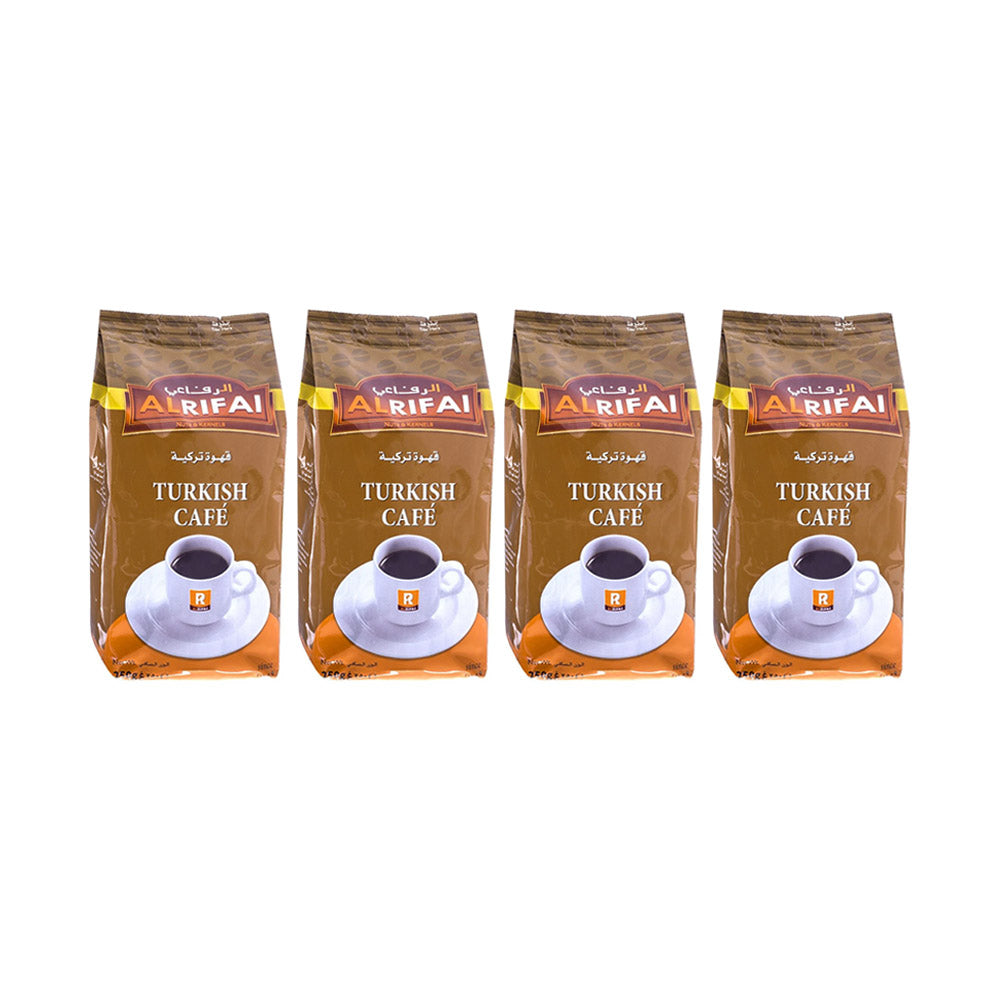 Rifai Turkish Coffee Without Cardamom 250g (Pack of 4 Pieces)