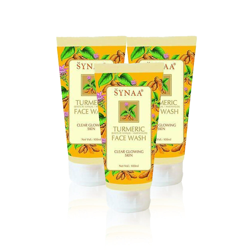 Synaa Turmeric Face Wash 150ml (Pack Of 3 Pieces)