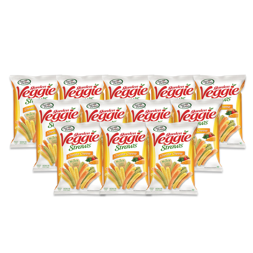 Sensible Portions Cheddar Cheese Veggie Straws 30g (Pack Of 24)