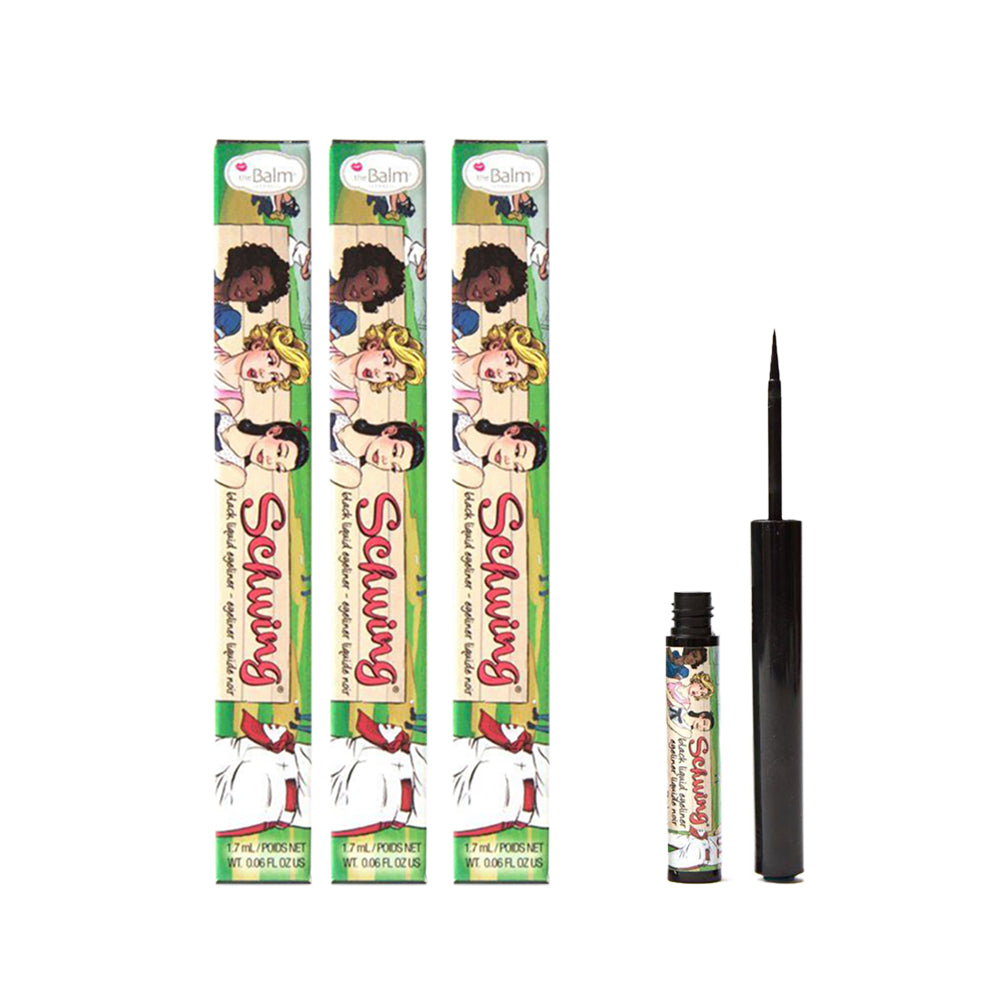 The Balm Schwing! Black Liquid Eyeliner - (Pack of 3)