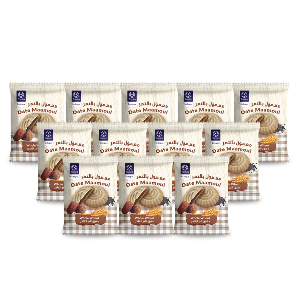 Tamira Date Mamoul 16g Whole Wheat (Pack Of 96 Pieces)