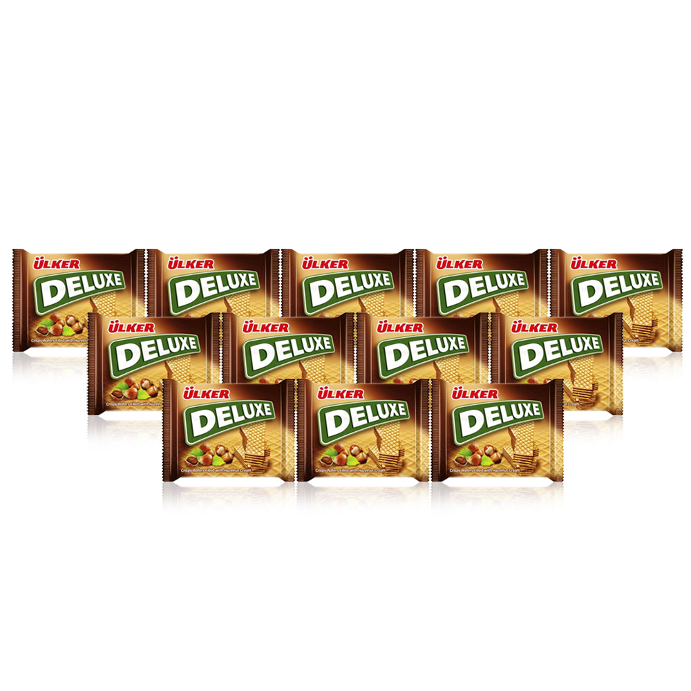 Ulker Deluxe Wafer with Hazelnut 39G - (6 Packs of 24 pieces)