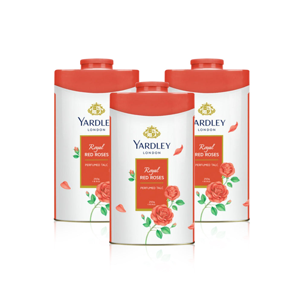 Yardley Red Rose Talc 125g - (Pack of 3)
