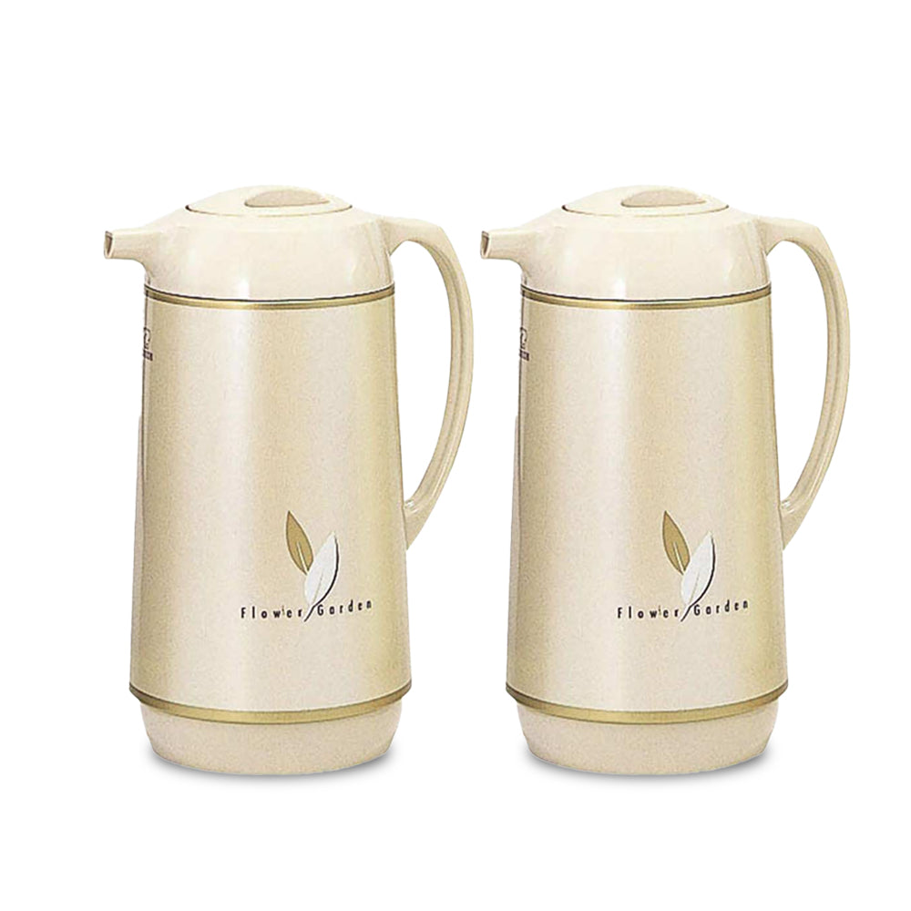 Zojirushi Vacuum Flask Beige 1 Liter - Pack Of 2 pieces - Billjumla.com