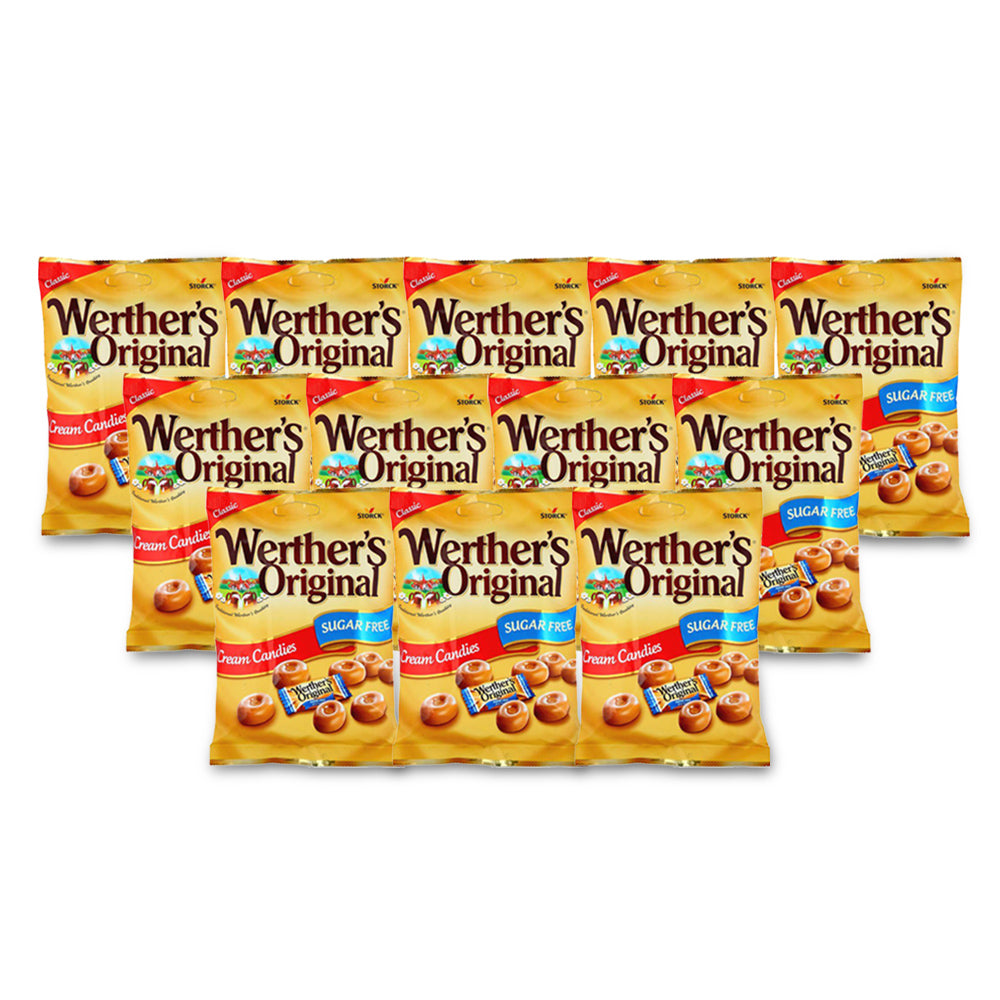 Storck Werthers Original Cream Candy Sugar Free Pouch  70g - (Pack of 12)