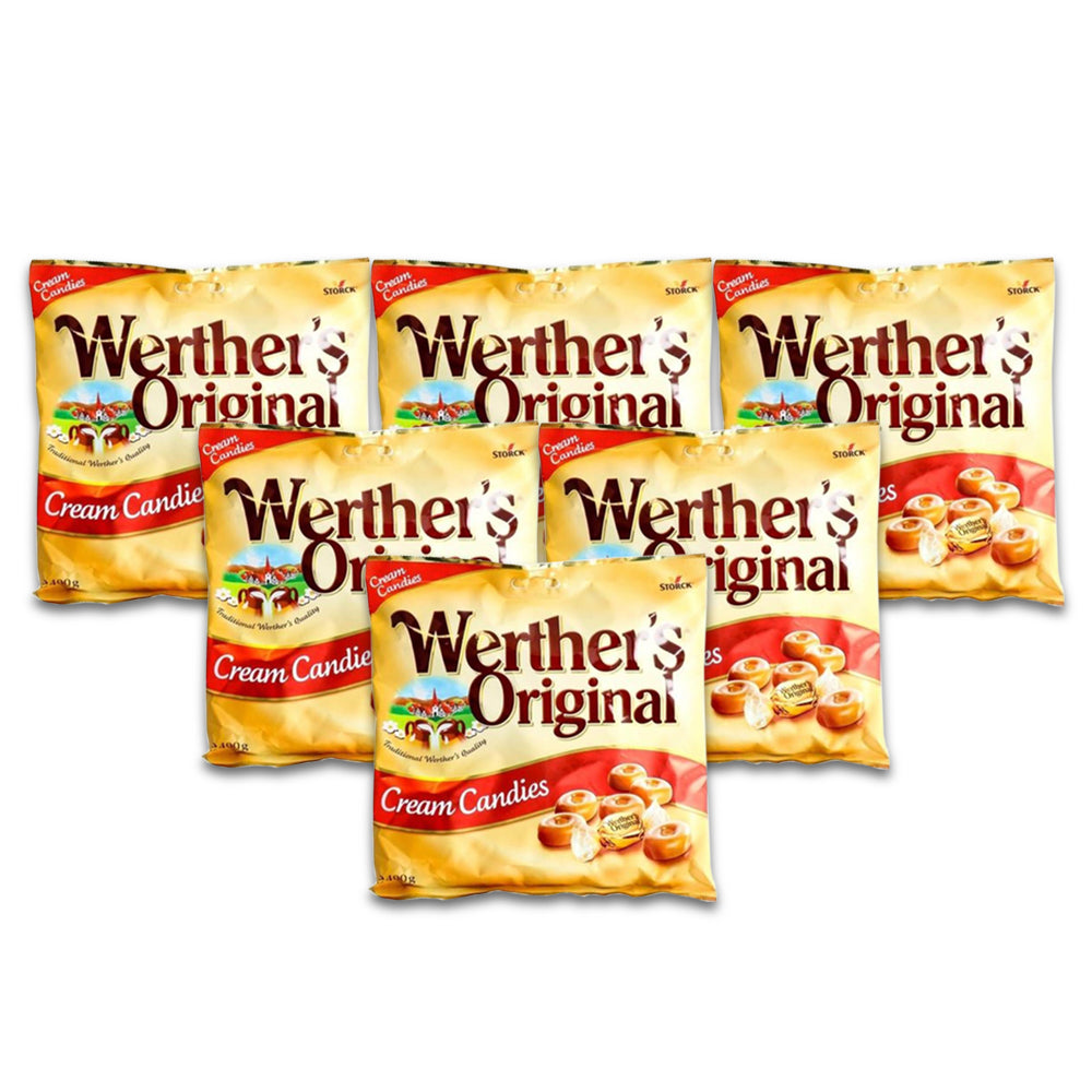Storck Werthers Original Cream Candy Bag  400g  - (Pack of 6)