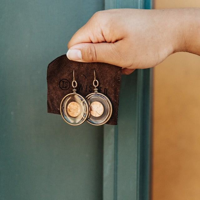 LUCKY PENNY Earrings - Twisted Silver Jewelry