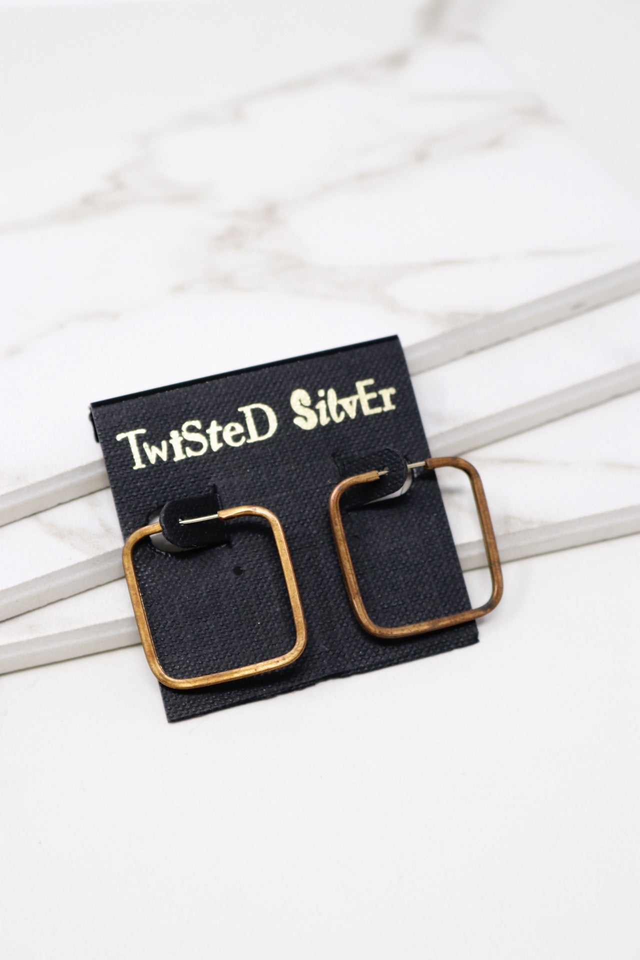 SMART Earrings - Twisted Silver