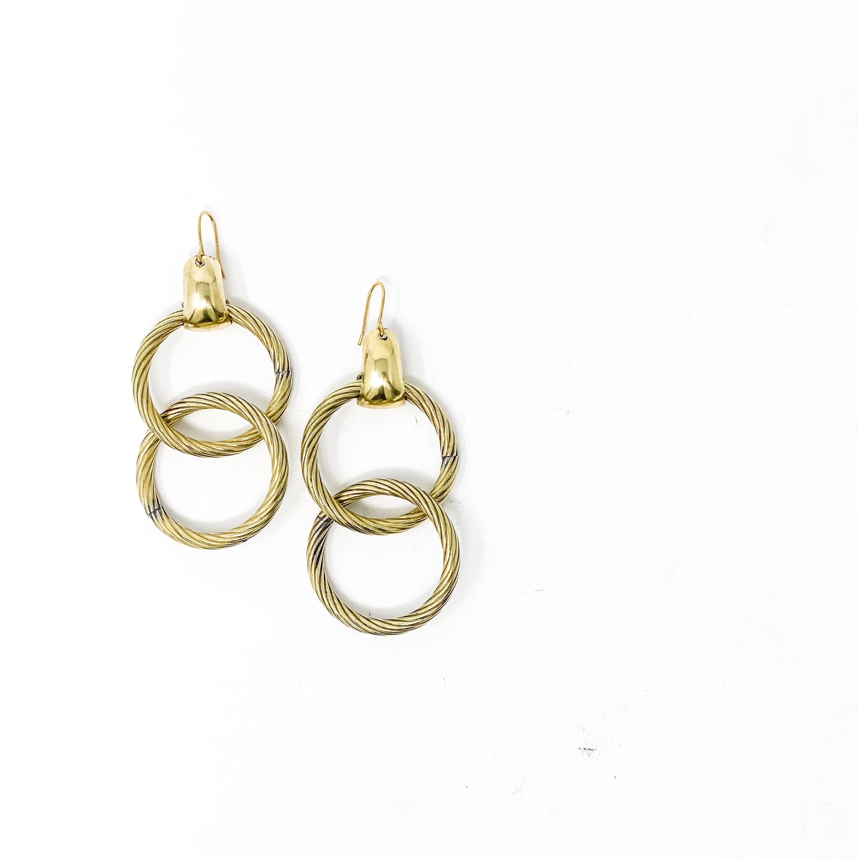 LOOPY Earrings - Twisted Silver Jewelry
