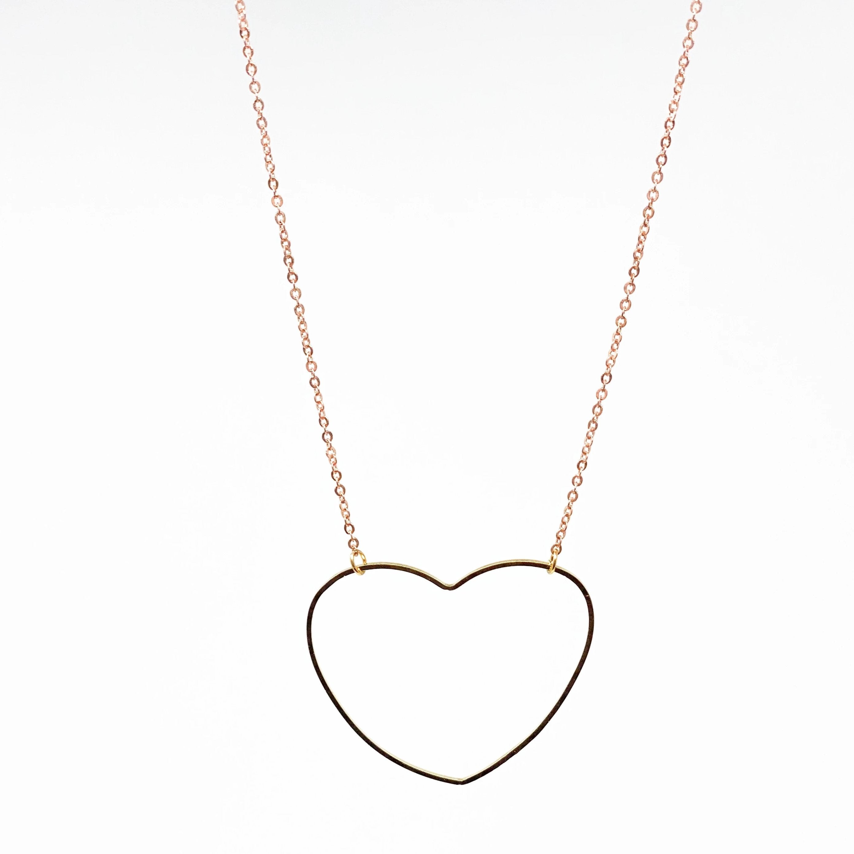 HEART Necklace - Twisted Silver