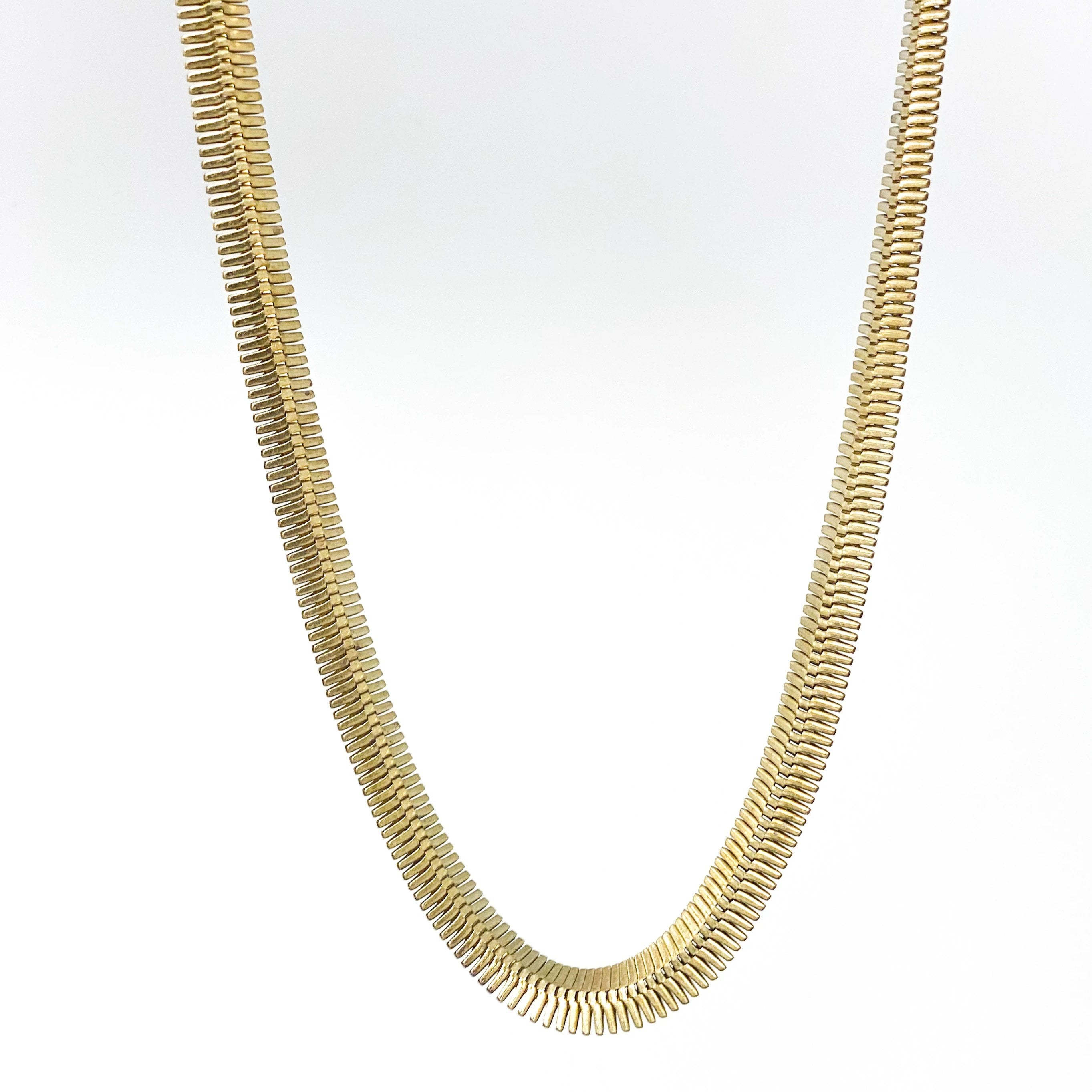 ZIPPER Necklace - Twisted Silver