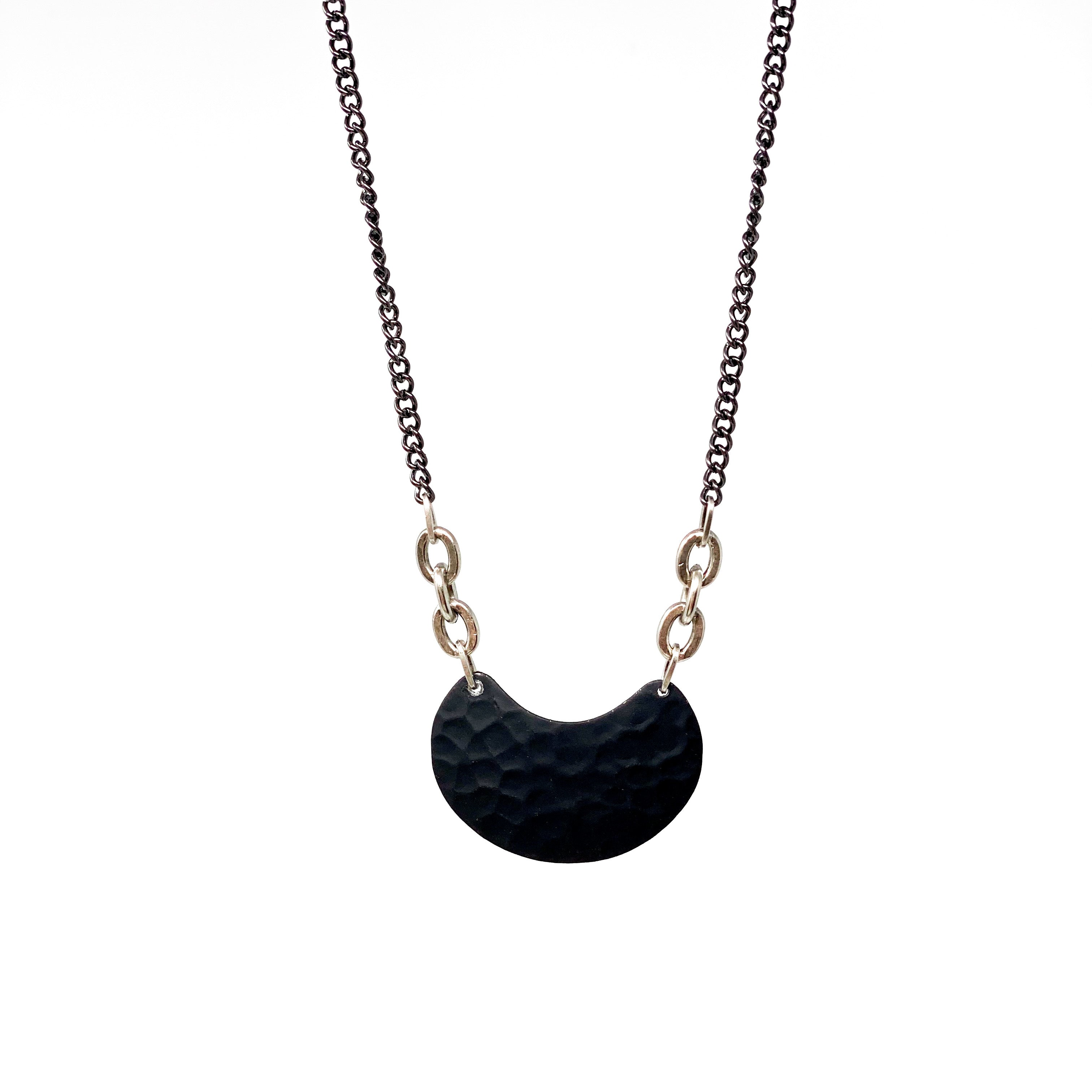 MOON Necklace - Twisted Silver Jewelry