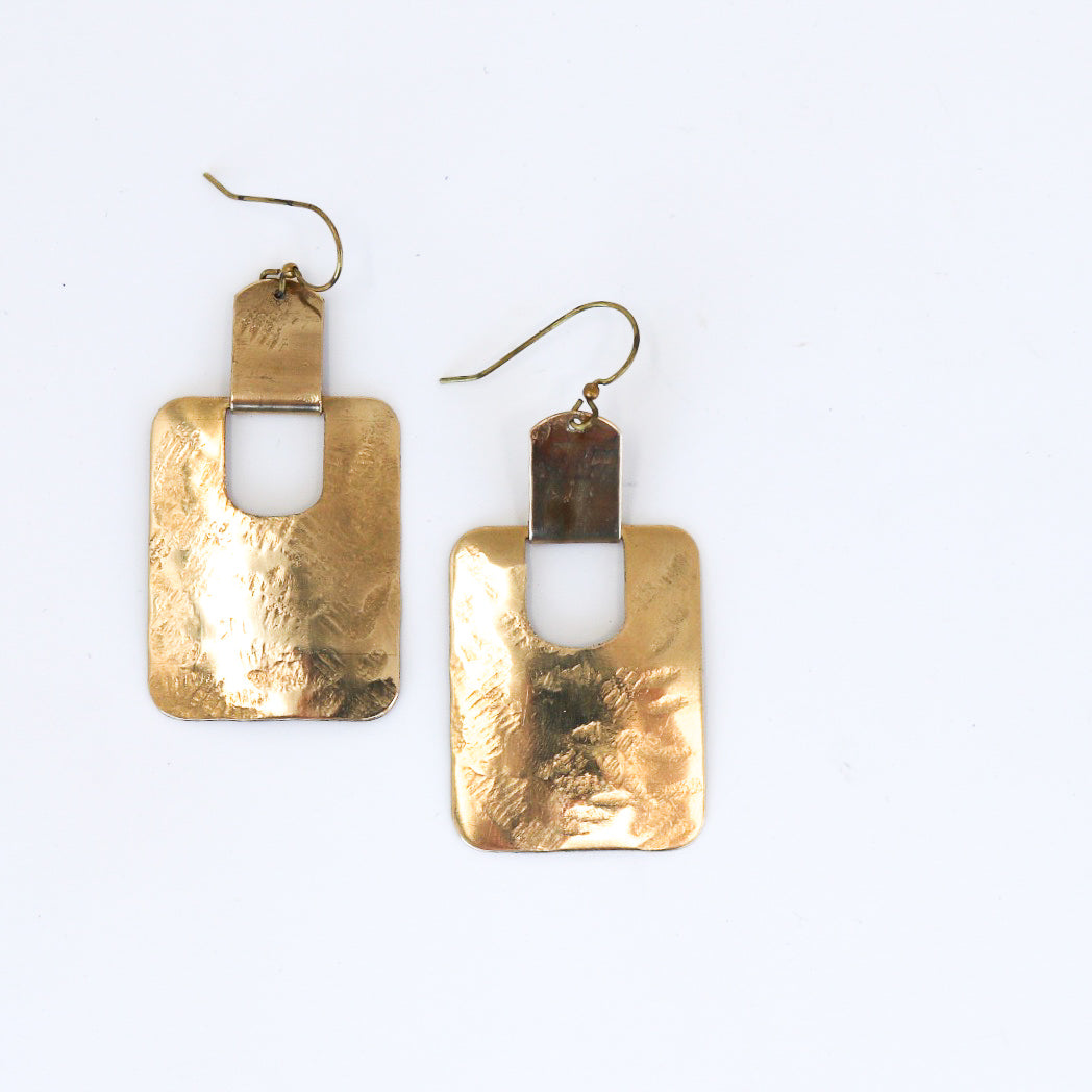 NILE Earrings - Twisted Silver Jewelry