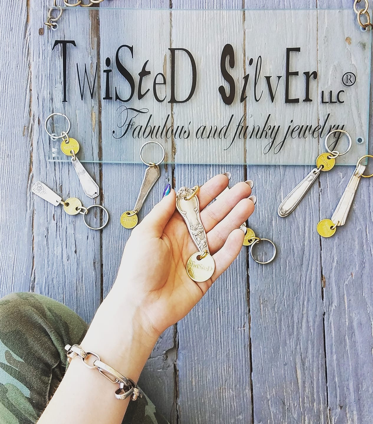 TWISTED Keychain - Twisted Silver Jewelry