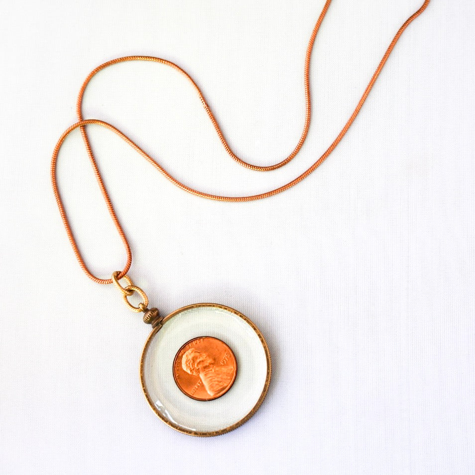 LUCKY PENNY Necklace - Twisted Silver Jewelry