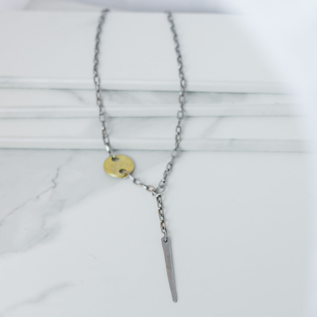 TINE Necklace - Twisted Silver Jewelry